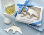 stylish dolphin bottle opener comes packaged in a gift box with ribbon
