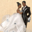 Ty Wilson African American Couple Cake Top